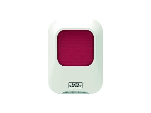 Burg-Wächter Alarmanlage innen, Alarm für das Haus, batteriebetrieben, mit BURGprotect Smart Home kompatibel, Noise 2160, Weiß