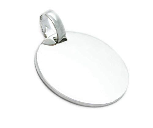 runder Kettenanhänger ~ Kettenanhänger mit gratis Gravur ~ 925er Silber
