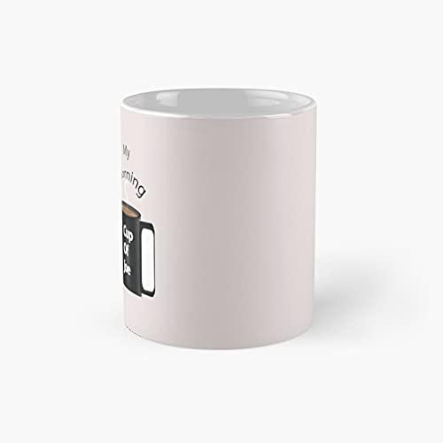 My Morning Cup Of Joe Classic Mug - Gift The Office 11 Ounces Funny White Coffee Mugs-nilinkep