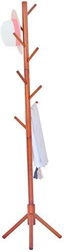 ZHOUMEI Massief houten kapstok Staande garderobe Kamergarderobe Rekken Enkele garderobe Hanger (kleur: wit)