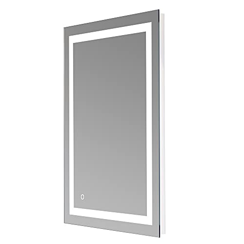 """Wfrspavey 36""""x 28"""" Square Built-in Light Strip Touch LED Bathroom Mirror HNYXS"""