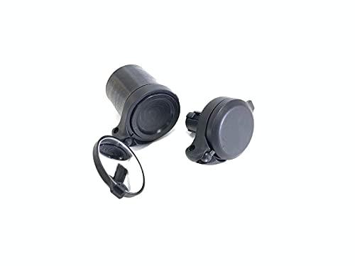 The Beam – CORKY Urban Bike Mirror – Folding Rear-view Handlebar Mirror – Convex Lens with 360-degree Rotation, Black