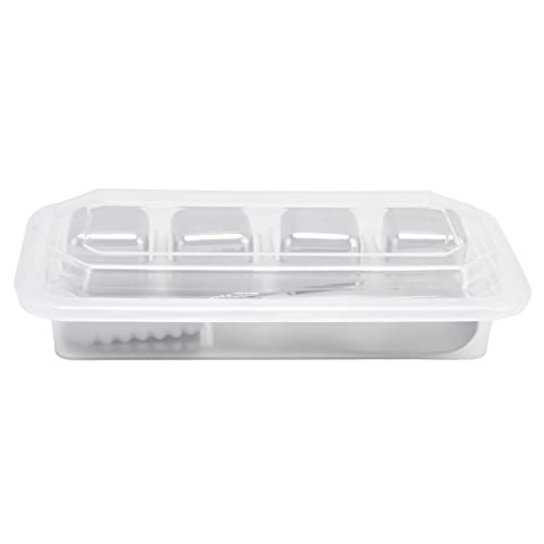 Stainless Steel Ice Cubes, Reusable Ice Cubes Bar Party Supplies 4PCS Whiskey Stones Chilling Rocks with Ice Tong, All Seasons
