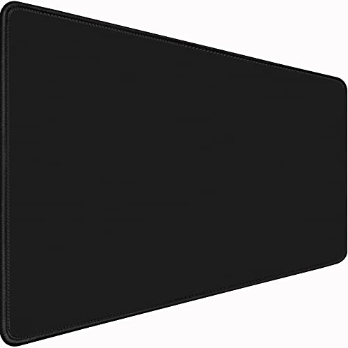 """Large Gaming Mouse Pad Extra,Upgraded Ergonomic Extended Gaming Mouse Pad with Durable Stitched Edge,Waterproof Non-Slip Base Mouse Pad for Gamer, Computer,Laptop, 31.5""""x15.7""""x0.12"""", Black"""