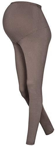 OssaFashion Leggings fur Schwangere Schwangerschaft aus Baumwolle Leibhohe hoch breit voll lang bis zu den Knocheln