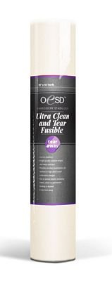 """OESD Ultra Clean & Tear Fusible White 15"""" x 10yd"""
