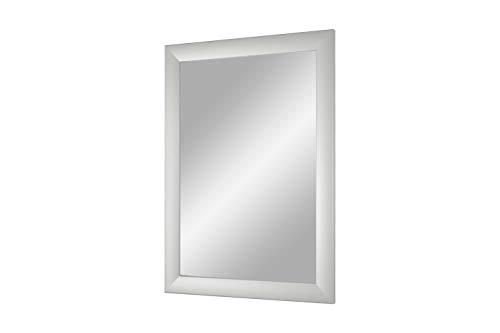 Duisburger-Rahmen24 Flex 35 - Specchio da Parete 75x155 cm con Cornice (Argento Opaco), Specchio su Misura con Striscia di Legno MDF da 35 mm di Larghezza e Parete Posteriore Robusta con Ganci