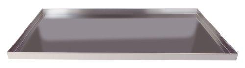 Agnelli rechteckig Pfannen Backblech mit Saum, Straight Edge, Höhe 2cm, Aluminium-Legierung 3003, Dicke 1,5mm, Silber