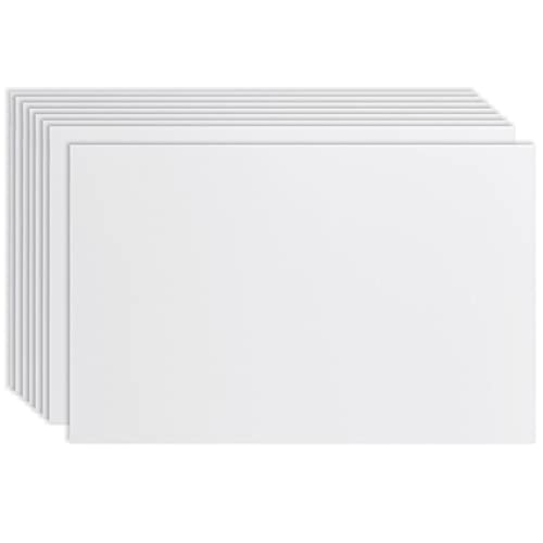 Juvale 8-Pack Blank Corrugated Plastic Yard Lawn Signs, White, 24 x 36 Inches