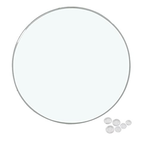 WXZX Tablero Superficie Redonda Mesa De Cristal 78 Cm, Transparente Mesas De Comedor, Accesorios En El Escritorio, No Salpica Después De Romperse, Puede Usarse con Confianza