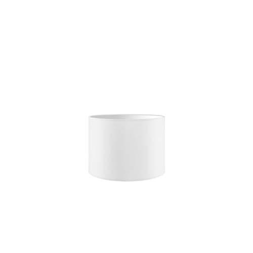 Lampenschirm rund | Bling | Stofflampenschirm | Textilschirm | Baumwolleschirm | Für E27 Fassung | Durchmesser 25cm Höhe 18,5cm | Rein Weiß | Für alle Innenraumen IP20 | Ohne Leuchtmittel