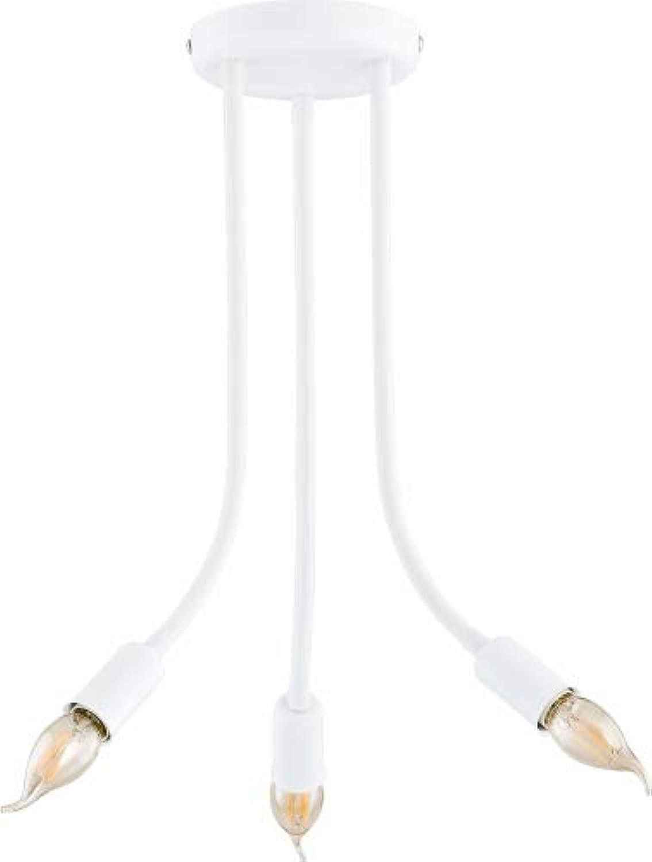 FLExY Weiß Deckenleuchte wei 3-flammig E27 60W