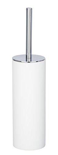 Wenko WC-Garnitur Ida geschlossener WC-Bürstenhalter, Ø 9 x 37, 5 cm, weiß