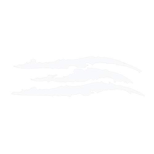 Yangge Reflektierende Auto-Aufkleber Scratch-Dekor DIY Adhesive Auto-Abziehbilder Sicherheits-Plakat Dekor Auto-Streifen Poster Reflektierende Scheinwerfer Aufkleber Weiß