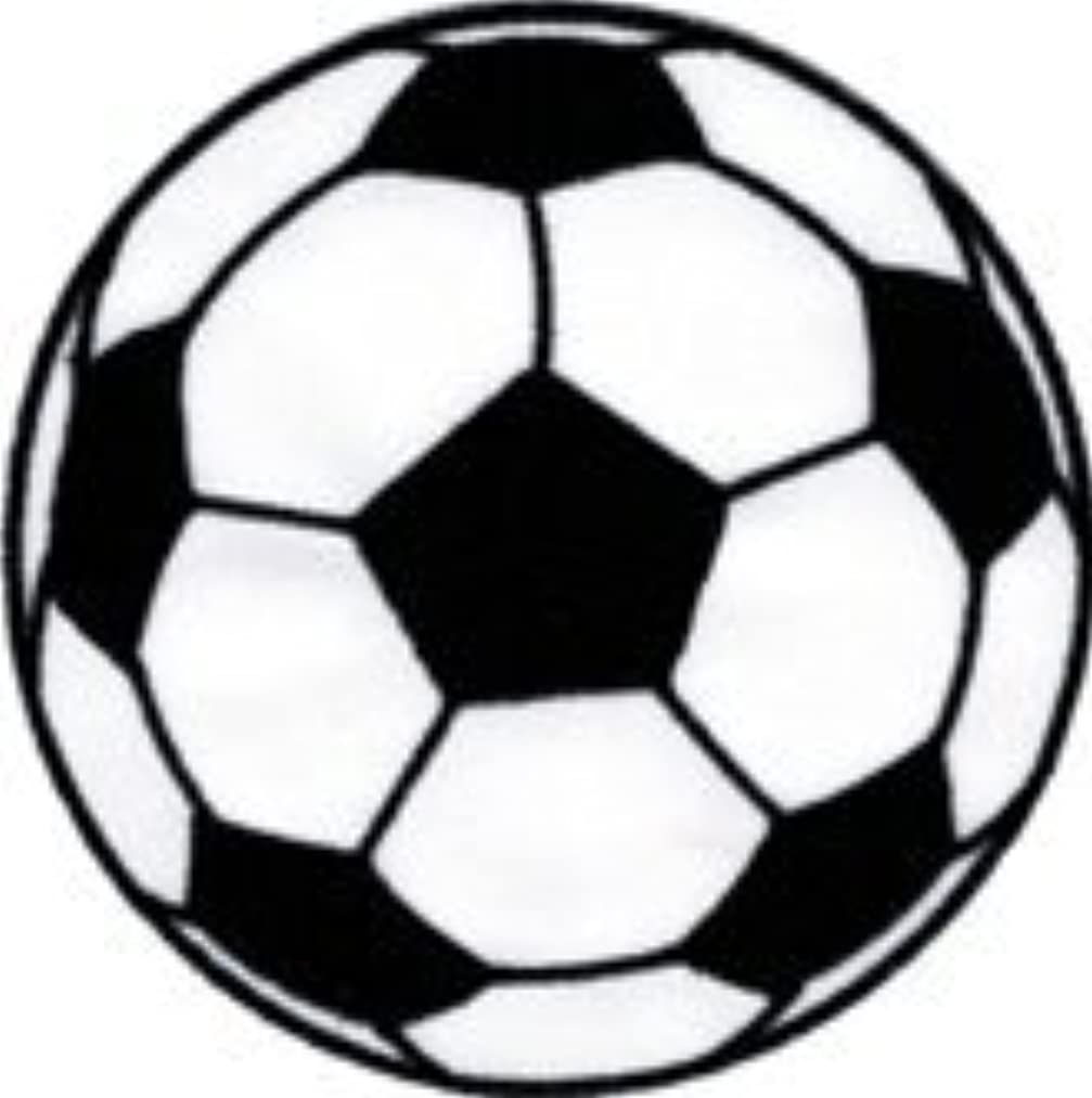 Soccer Ball - White And Black - Embroidered Iron On or Sew On Patch