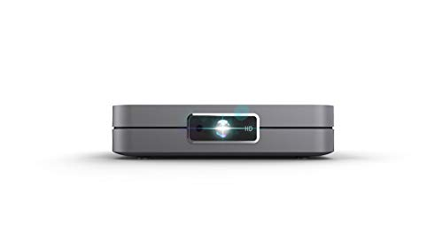 Yaufey Mini proyector, proyector inalámbrico 3D DLP portátil para cine en casa