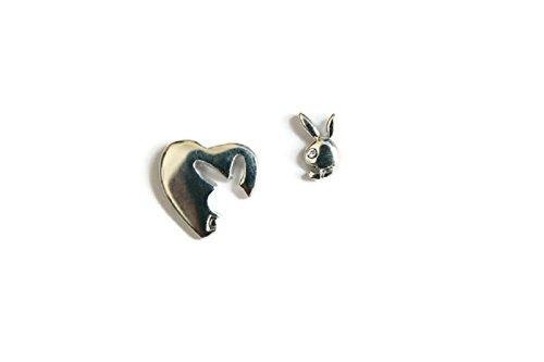 Original Playboy Kaninchen Logo platiniert Ohrstecker Fashion Ohrring mit Geschenk Box by eshop7