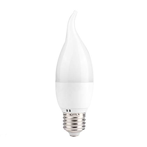 CjnJX-Vases Bombilla de Wi-Fi, 6W E27/E14 RGB + CW Bombilla de luz LED Retro Bombillas de lámpara Inteligente Wi-Fi controladas por teléfono Inteligente con función de temporización y retardo(E27)