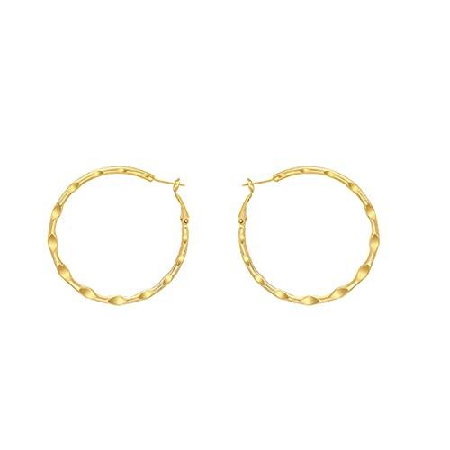 S925 aguja de plata círculo grande metal retro personalidad exagerada diseño de anillo de oreja pendientes de temperamento pendientes de moda pendientes