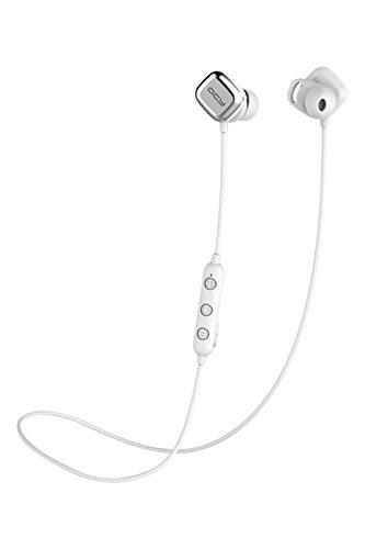 QCY M1Pro ワイヤレス イヤホン Bluetooth ヘッドセット マグネット搭載 自動ペアリング 自動ON/OFF カナル式 左右一体型 ブルートゥースイヤホン APT-X対応 高音質 CVC6.0 ノイズキャンセル 両耳 通話 8時間連続再生 防水 軽量 小型 リモコン付き マイク内蔵 ステレオ ヘッドホン ハンズフリー通話 ホワイト QCY-M1ProWH