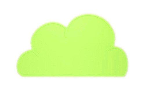 Fablcrew Set de Petit Déjeuner en Forme de Nuage pour Enfants, Silicone matériel Size 27 * 43.5 cm (Vert)