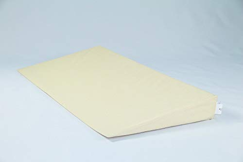 Fränkische Schlafmanufaktur Keilkissen Bettkeil Poly 9/1cm mit Bezug, Farbe Beige, Breite 90cm