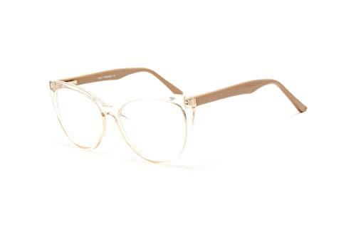 Armação Óculos Feminino Gatinho Com Lentes Sem Grau Jc-2039 Cor:Dourado