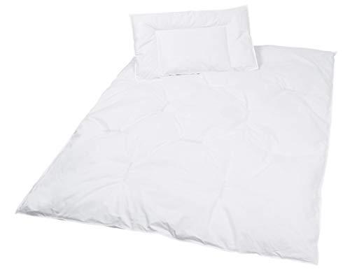 Zollner cuscino e trapunta per bambino, 40x60 cm e 100x135cm, piumette e piume