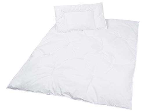 Zollner Kinder Bettenset, Daunen Bettdecke und Kopfkissen, 40x60 cm + 100x135 cm