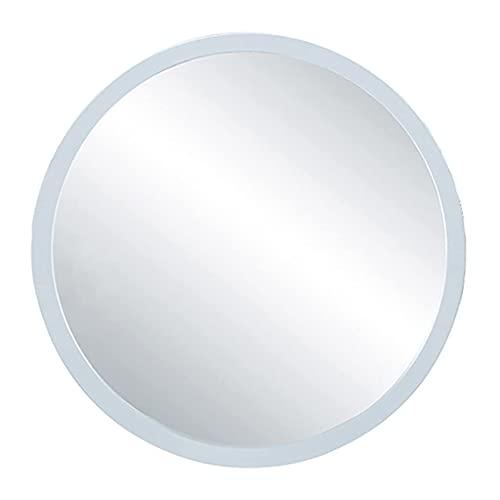 MU Espejo de Pared Revestimiento Redondo Espejo Mde Madera Espejo de Acento Rústico Espejo de la Pared Decoración de la Pared para Las Entradas, Los Baños, Salas de Estar Tocador, Comedor Tipo de Pas