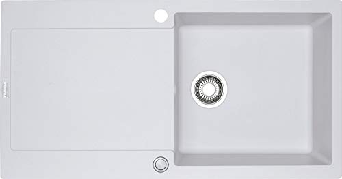 Franke Maris MRG 611-100 1140176596 - Fregadero (material Fragranite DuraKleenPlus), montaje encastre, reversible, color blanco