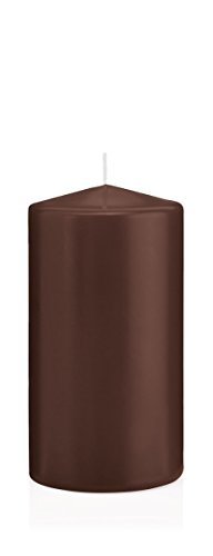 Bougies Chocolat, Bougies Pilier Chocolat 10 x 10 cm (H x Ø), 6 pièces, Bougies Wiedemann, Bougies de Marque Made in Germany