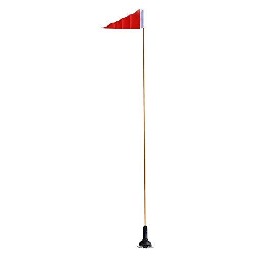 Letway 120 cm Sicherheitsflaggen-Kit Safety Sicherheitsflagge für Lederboote, unterer Sitz für Kanufahrzeuge, Skinning-Boot-Verteilung für Kanufahrzeuge, zusammenklappbar für Bequeme Aufbewahrung.