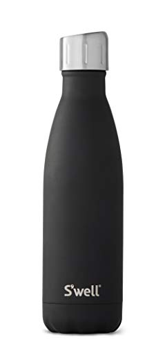 S'well 10017-A19-28001 Stainless Water Bottle, 17oz, Soft Touch Black