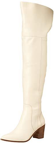 CHARLES DAVID Women's Knee Boot, Off White, 8.5