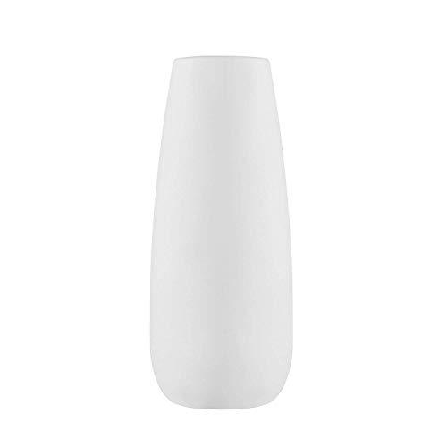 """JYCRA - Jarrones de cerámica modernos decorativos de estilo minimalista para el hogar, sala de estar, dormitorio, cocina u oficina, cerámica, Blanco, H8"""" D3"""""""