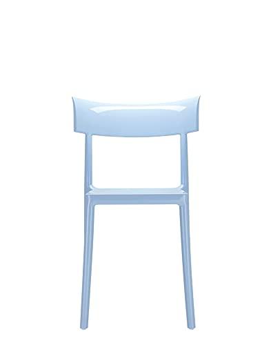 Kartell 5818/04 Catwalk Sedia, Policarbonato, 53x81x54,5 cm, Set di 2 Sedie, Blu