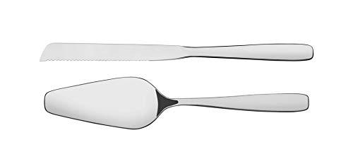 Tramontina Essentials 2 Piezas. Juego de Cubiertos, Paleta y Cuchillo, Pala para Tartas, Acero Inoxidable 430, AISI 420