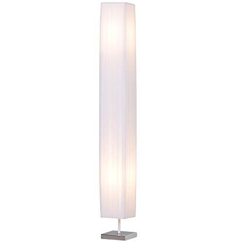 HOMCOM Lampada da Terra Lampada Piantana da Terra Design Moderna Salotto Tessuto 14×14×120cm Bianco