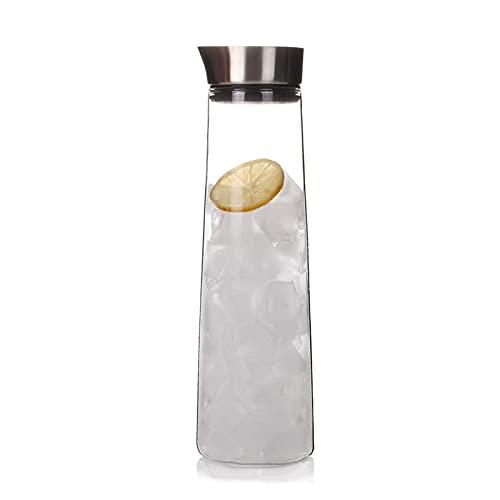 TTCI-RR Jarras Jugo de cristal engrosada Jarra resistente al calor taza de agua fría de gran capacidad de la botella de agua fría con la botella lateral Prevención de fuga de agua fría con la tapa Agu