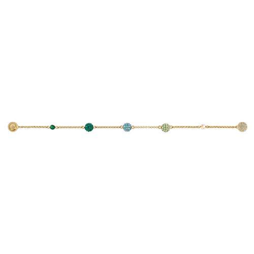 Swarovski Strand Remix Collection Pop, Verde, Placcato Colore Oro