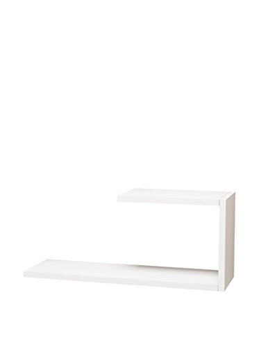Homemania Mensola A Muro J, Per Casa, Camera, Ufficio, Salotto, Studio - Scaffale, Bianco, 20 x 27 x 60 cm