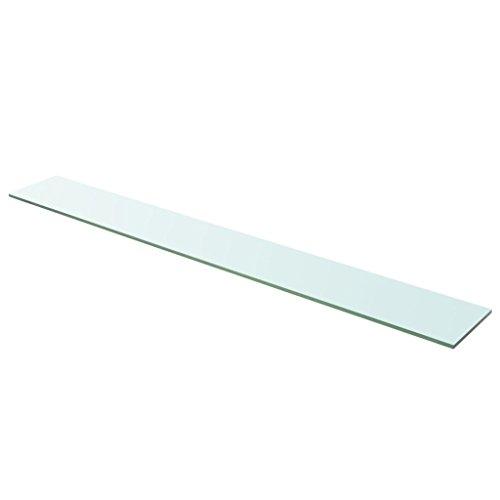 Festnight Ersatzteile Glas Regalboden Glasboden Glas Einlegeboden Max. Tragf?higkeit 15 kg 110 x 15 cm Transparent