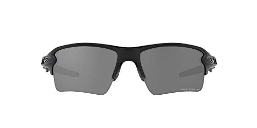 Oakley Men's OO9188 Flak 2.0 XL Rectangular Sunglasses, Matte Black/Prizm Black Polarized, 59mm
