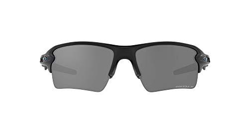 Oakley Men's OO9188 Flak 2.0 XL Rectangular Sunglasses, Matte Black/Prizm Black Polarized, 59mm