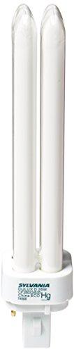 Sylvania 21114 Tubo fluorescente compacto de 2 pines doble 3500 K, 26 vatios