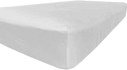 American Pillowcase King Size Fitted Sheet Only - 300 Thread Count 100% Egyptian Cotton - Pieces Sold Separately (White)