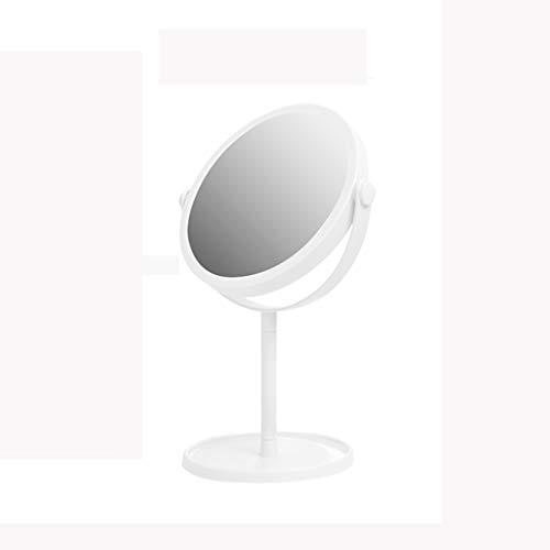 Miroir de Maquillage de 6 Pouces, Grand Miroir de Maquillage Portable de Table pivotant, Hauteur de 13 Pouces,White,S
