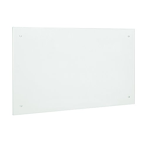 [neu.haus] Glas Küchenrückwand / Spritzschutz (90x50cm) - Mattglas - Fliesenspiegel inkl. Befestigungsmaterial