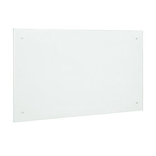 [neu.haus] Glas Küchenrückwand/Spritzschutz (90x40cm) - Mattglas - Fliesenspiegel inkl. Befestigungsmaterial